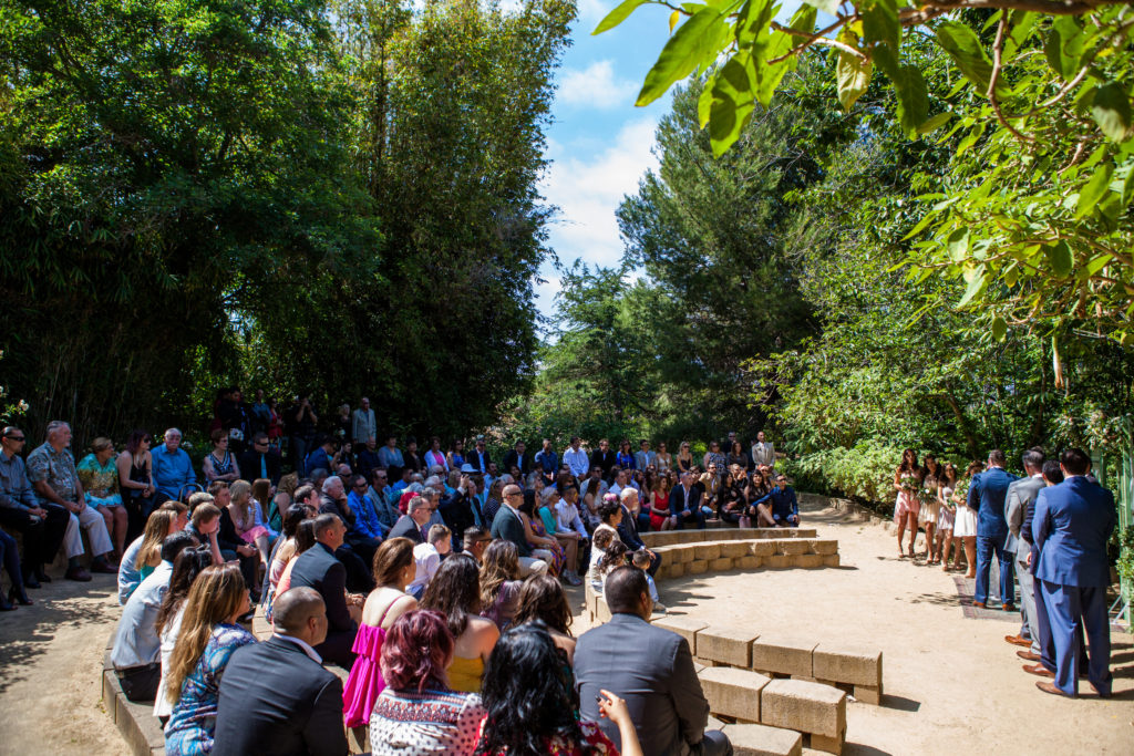 ceremony in the amphitheater at the south coast botanic garden