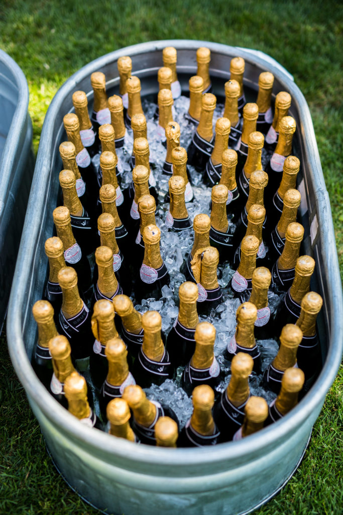 champagne bucket for wedding toast