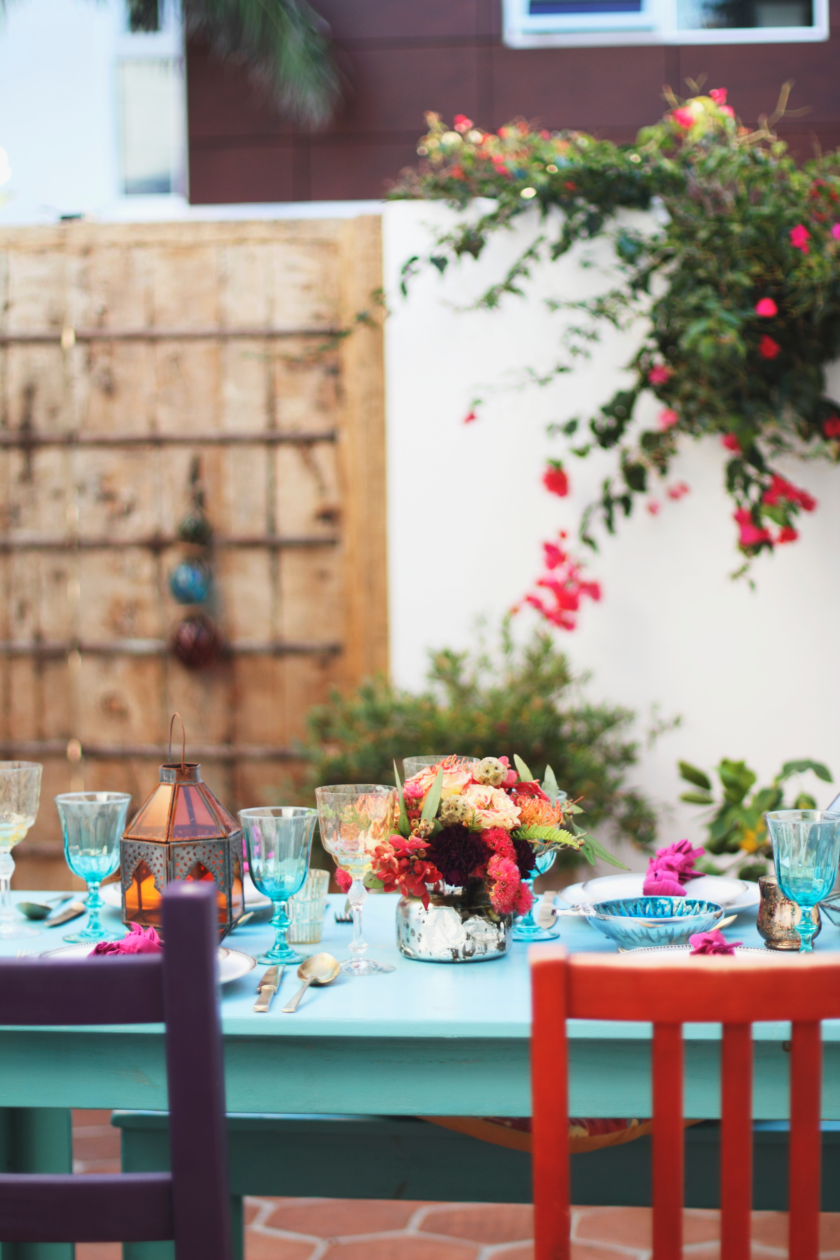 bridal shower in manhattan beach backyard