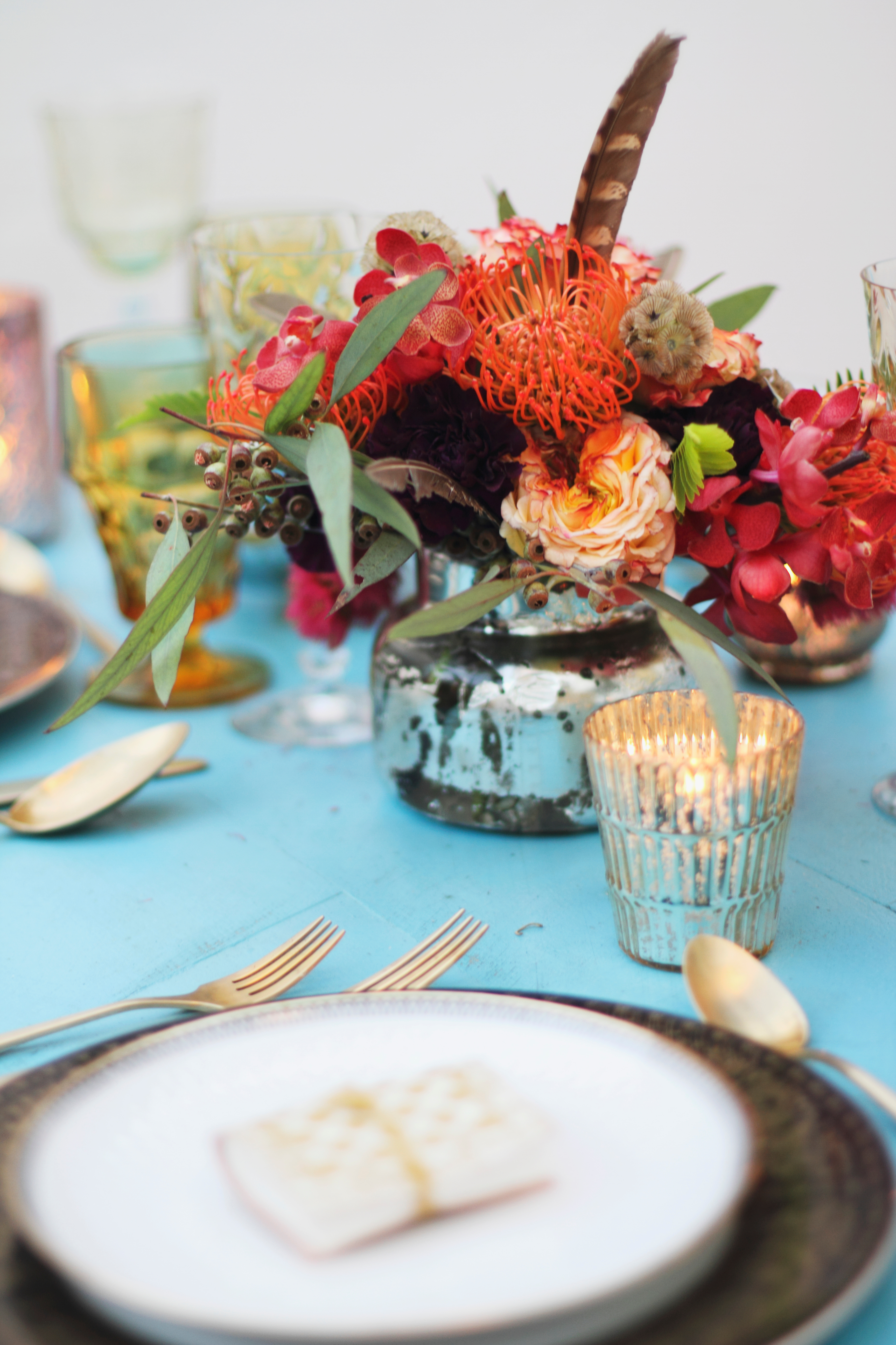 bright and colorful flower arrangement