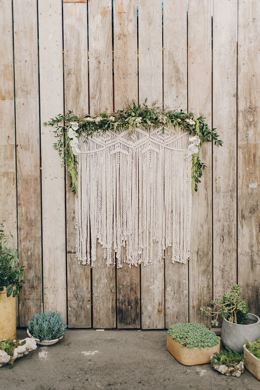 Macrame Ceremony Backdrop at Big Daddy's Antiques