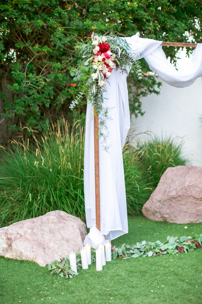 wedding chuppah at casino san clemente
