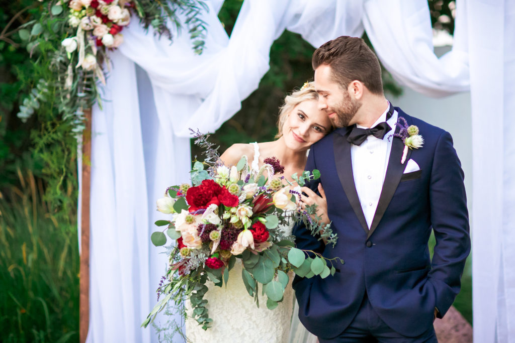 colorful wedding at San Clemente Casino