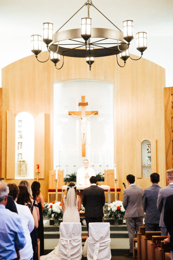 wedding ceremony at saint sebastian church santa paula