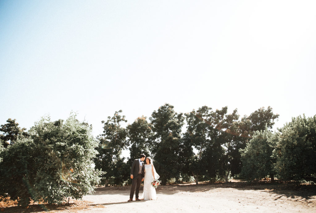couple at limoneira ranch in santa paula