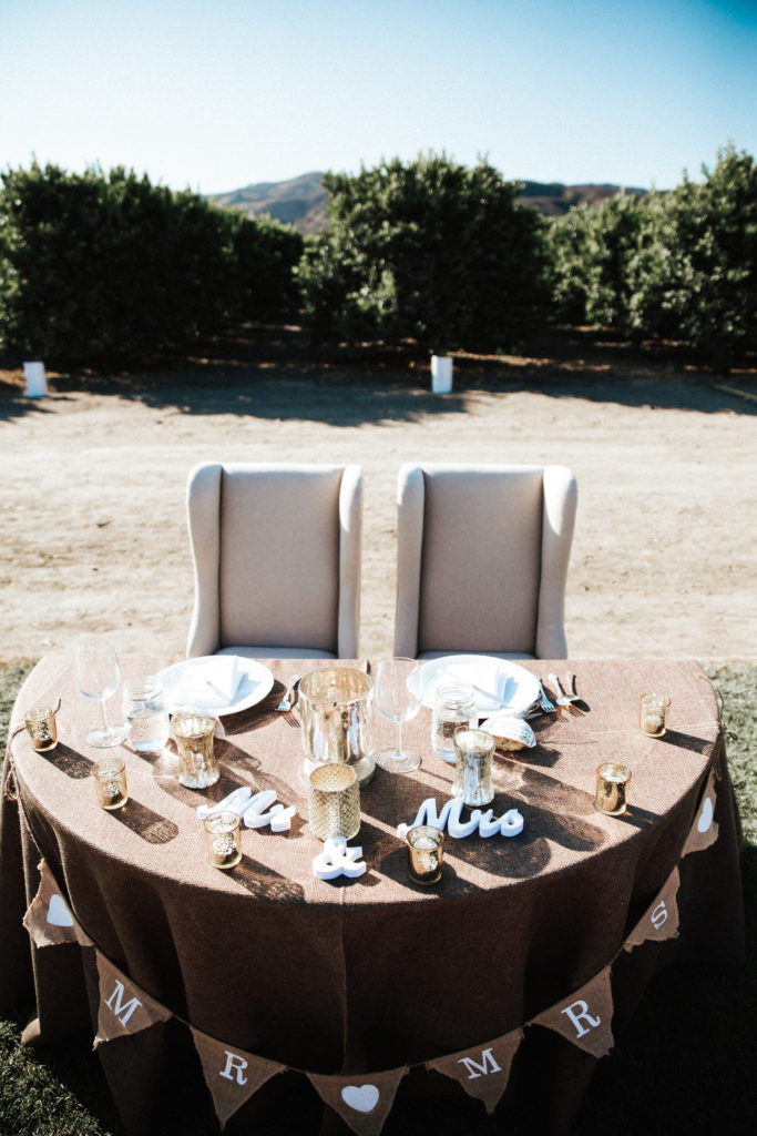 sweetheart table at limoneira ranch