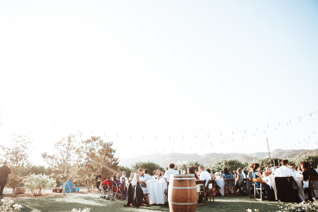 wedding reception at limoneira ranch