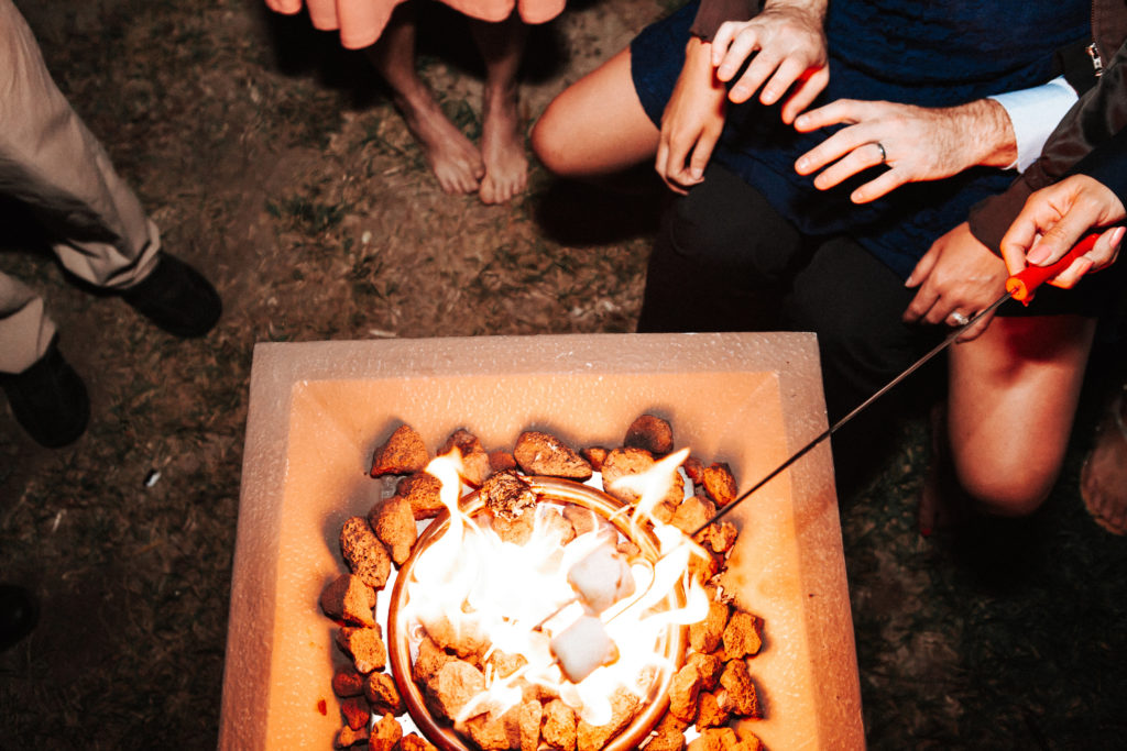 s'mores and firepit at limoneira ranch