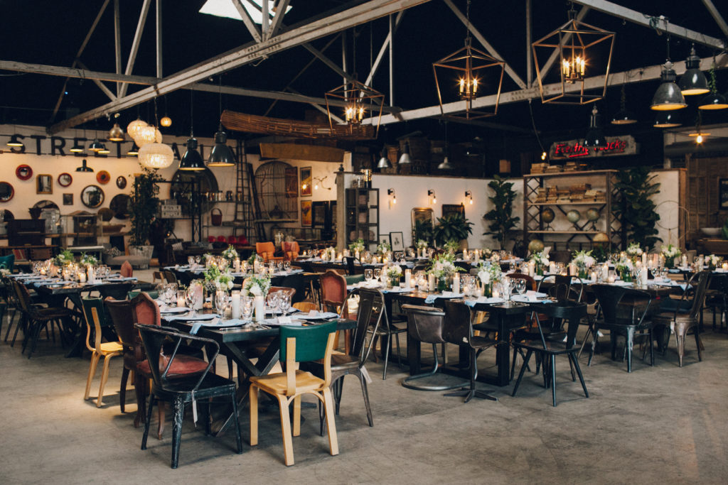 wedding reception at Big Daddy's Antiques in los angeles