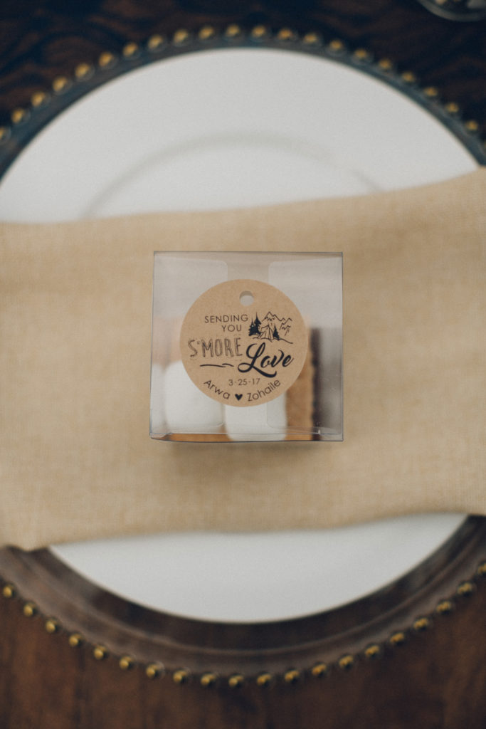 s'mores as wedding favor
