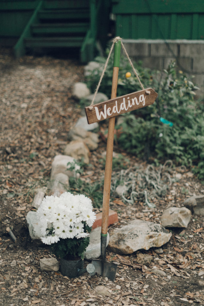 rustic garden wedding signage