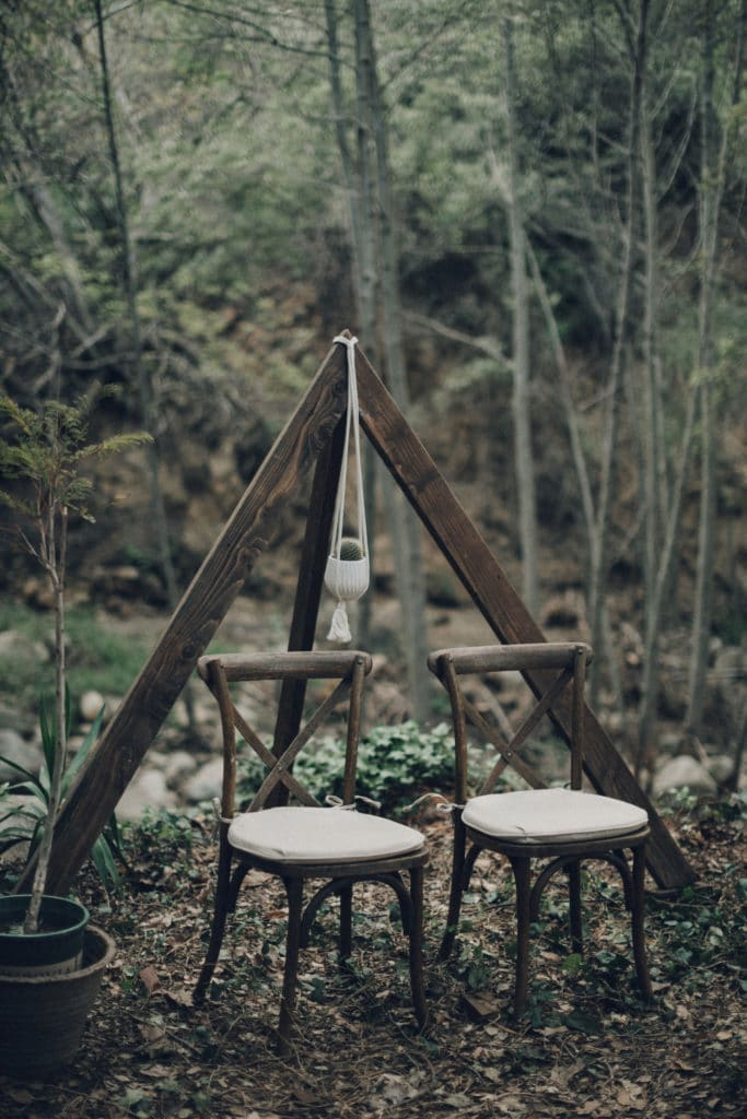 Triangle bohemian wedding arch
