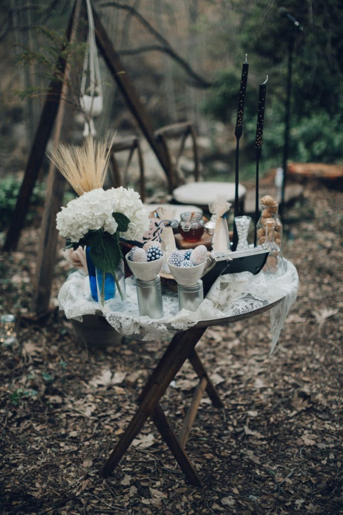 sofreh ceremony in the woods
