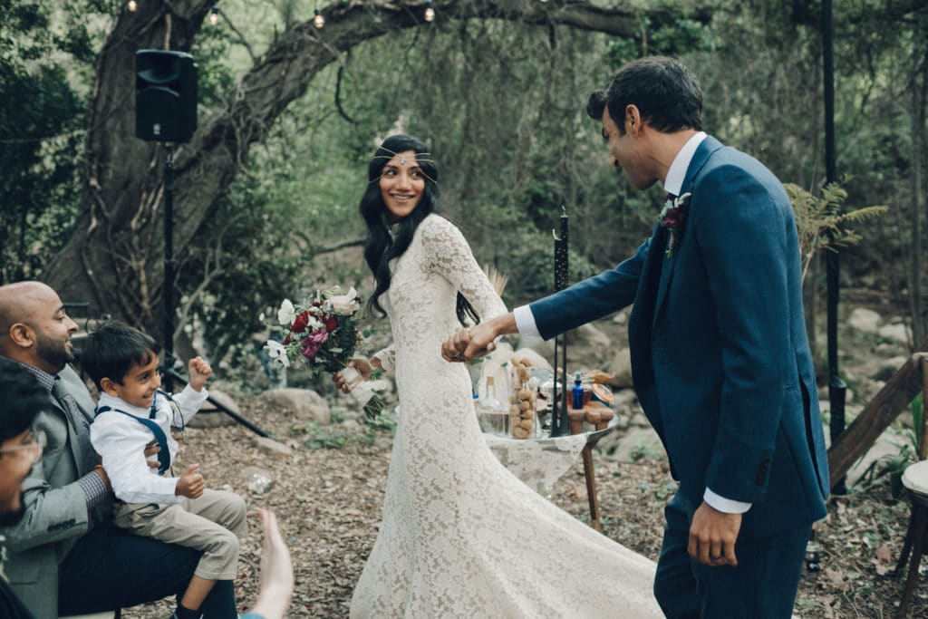 bohemian ceremony in the woods ojai