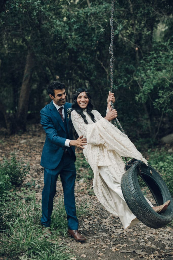 bohemian wedding in the woods ojai