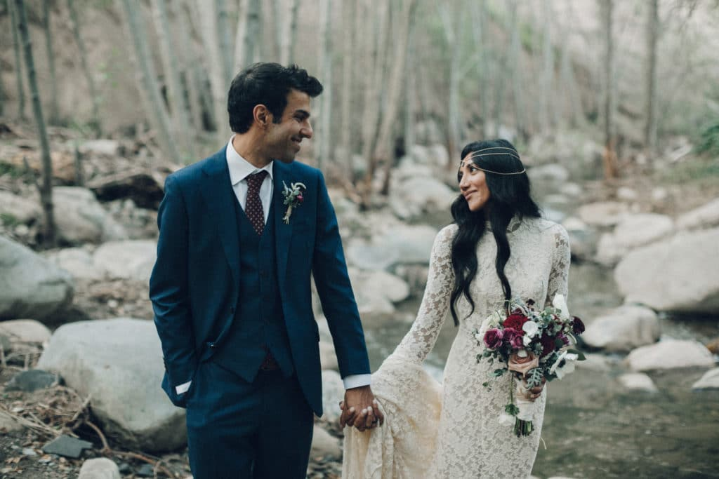 romantic bohemian wedding in the woods ojai