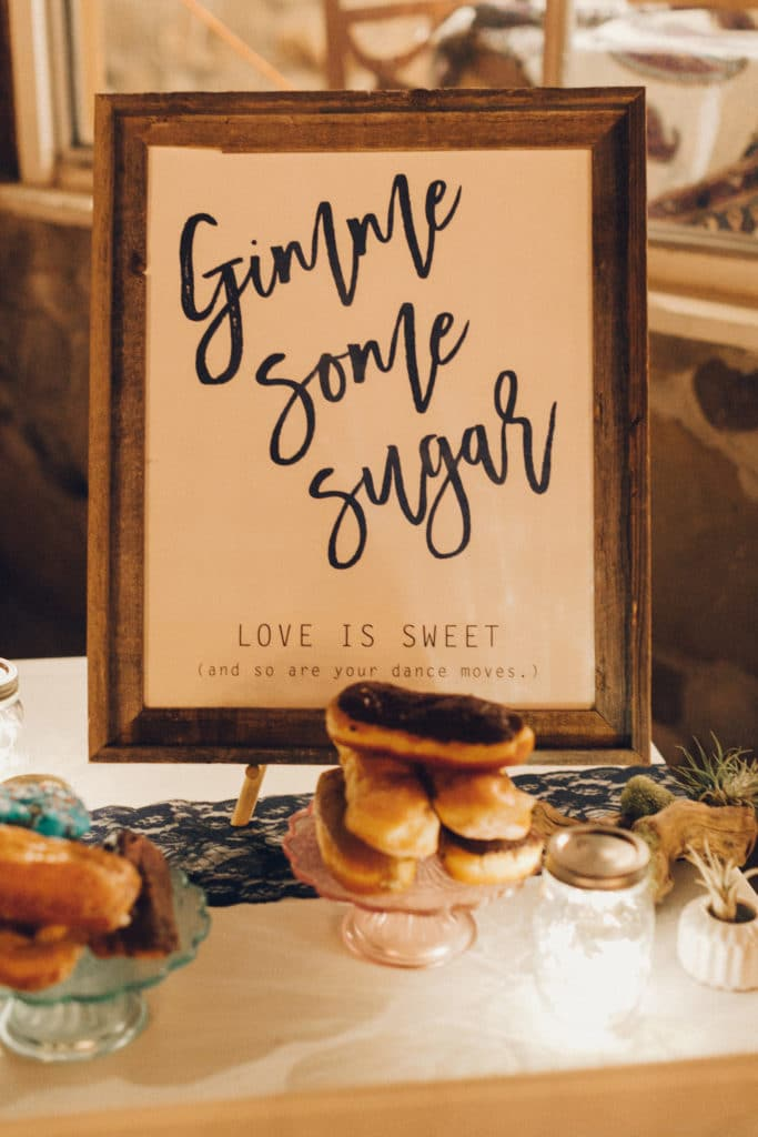 Gimme some sugar dessert sign
