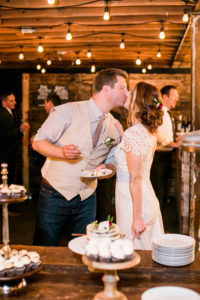 kiss after cake cutting
