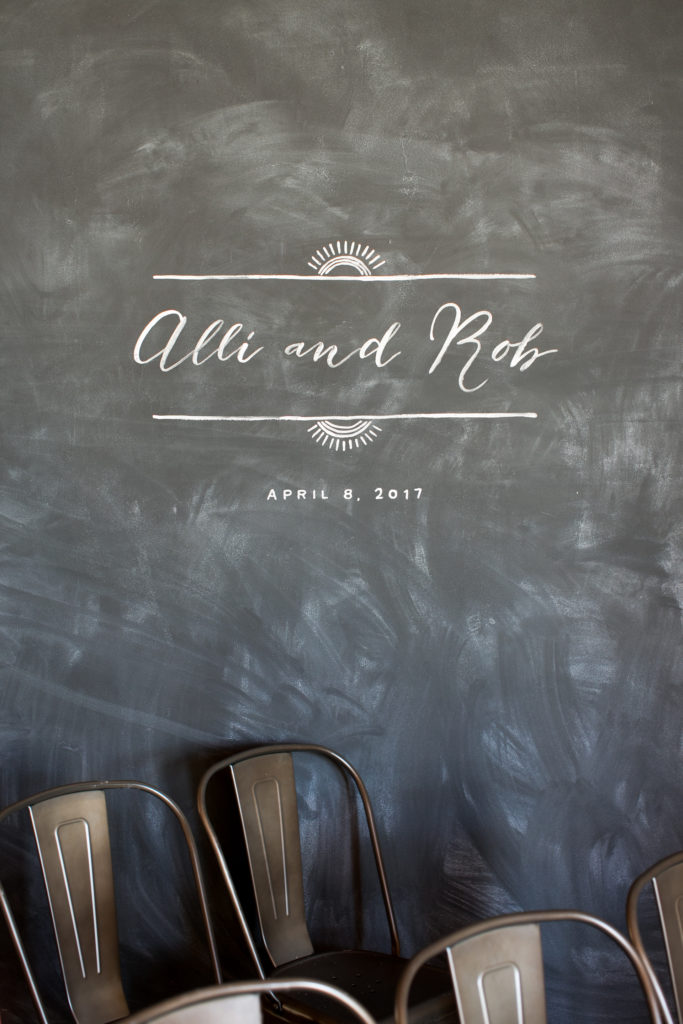 chalkboard art for wedding