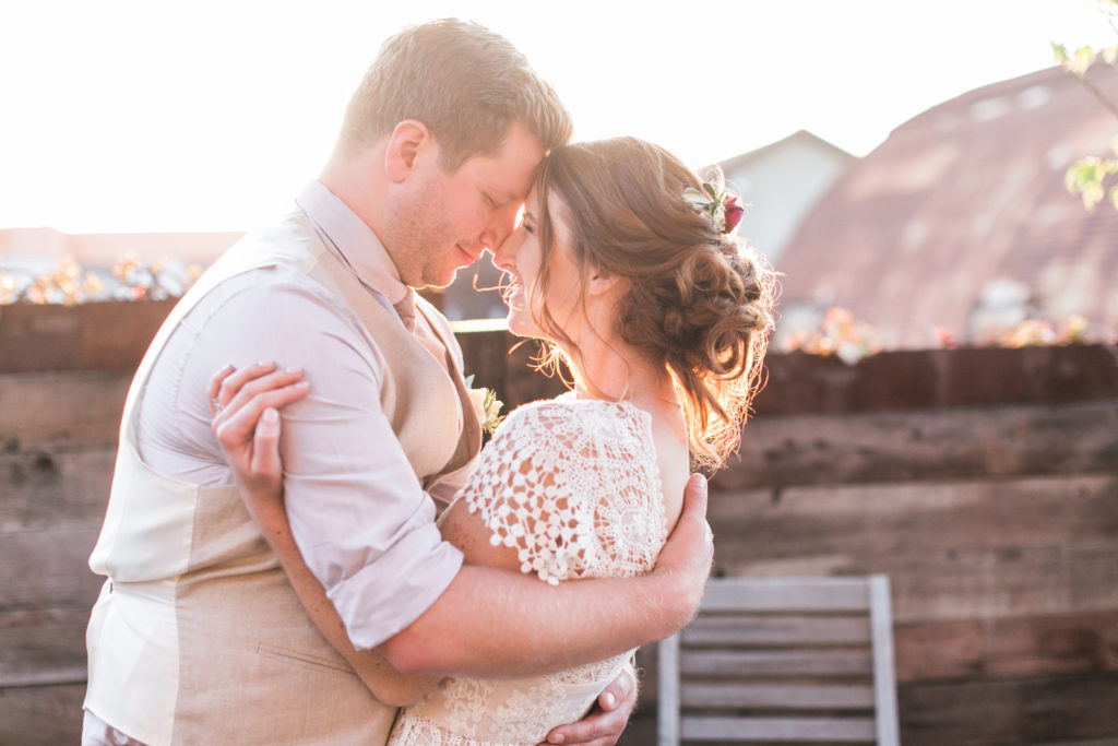 Smoky Hollow Studios wedding at sunset