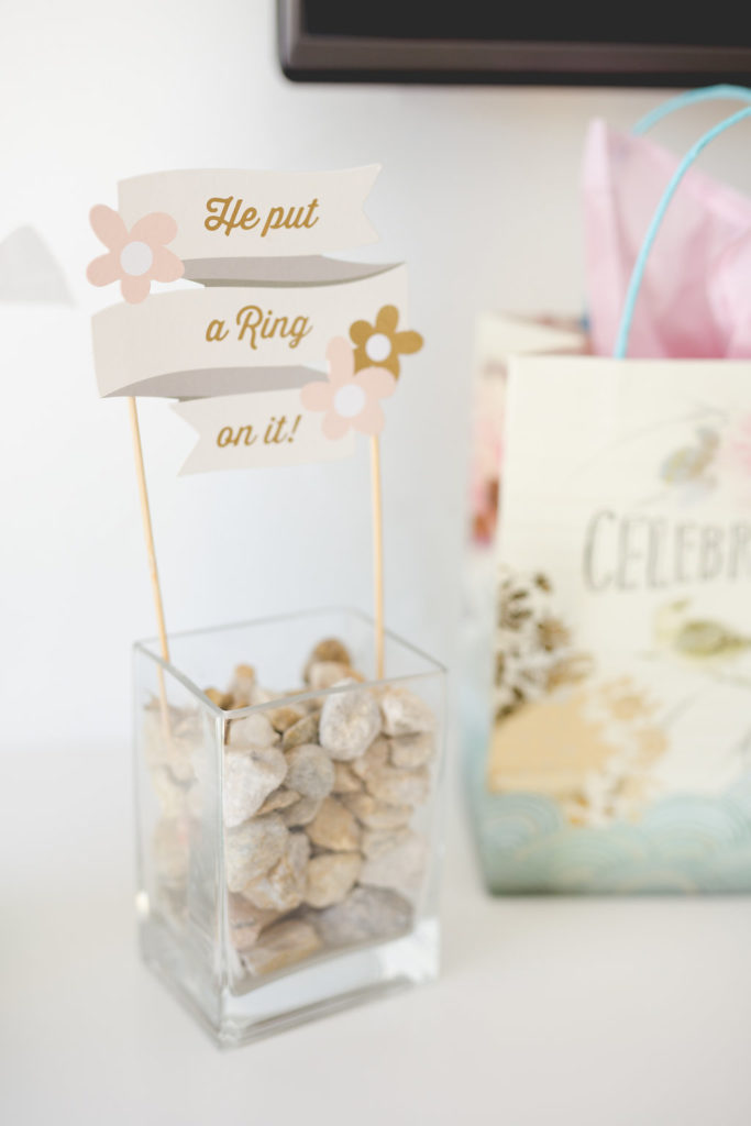he put a ring on it cake topper
