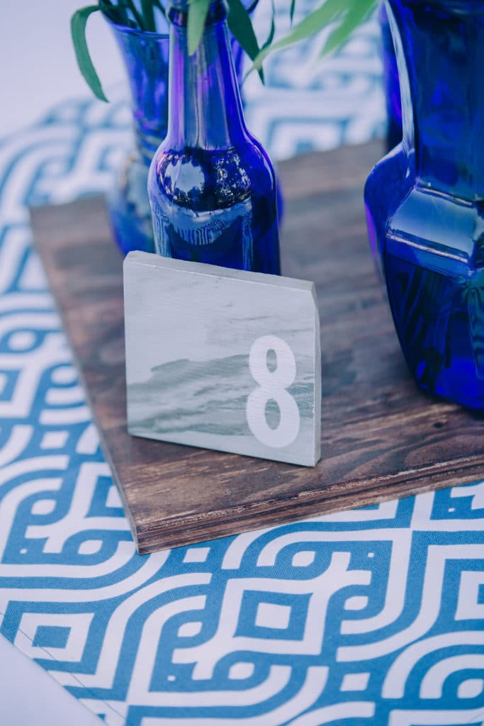 handmade marble table number
