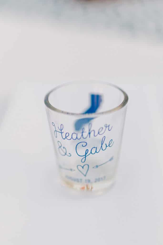custom shot glass for wedding favor