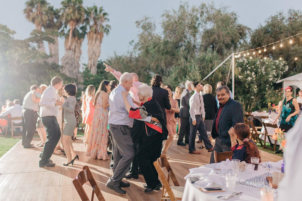 dance party wedding at the south coast botanic garden
