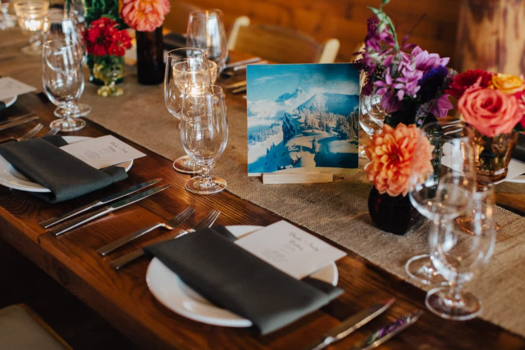 unique table numbers with photos