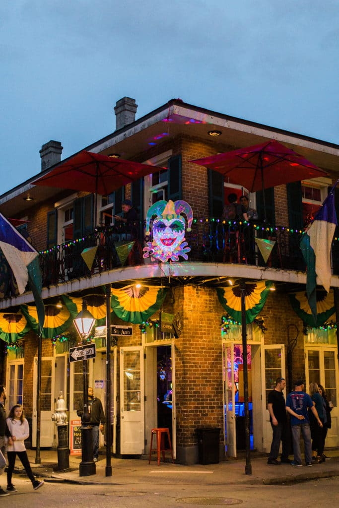 New Orleans right before Mardi Gras for the Rising Tide Society Leader