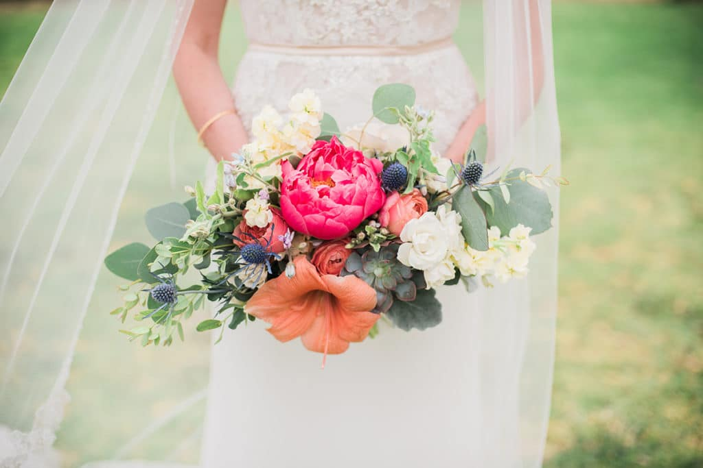 colorful spring bouquet for wedding in Palos Verdes