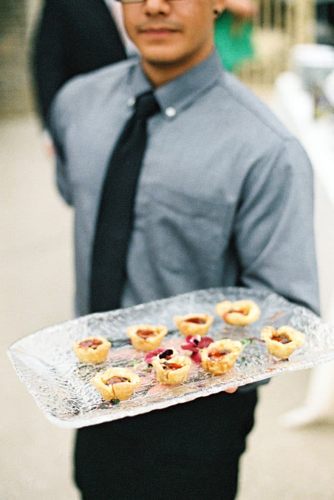delicious fig and cheese tarts for wedding appetizers