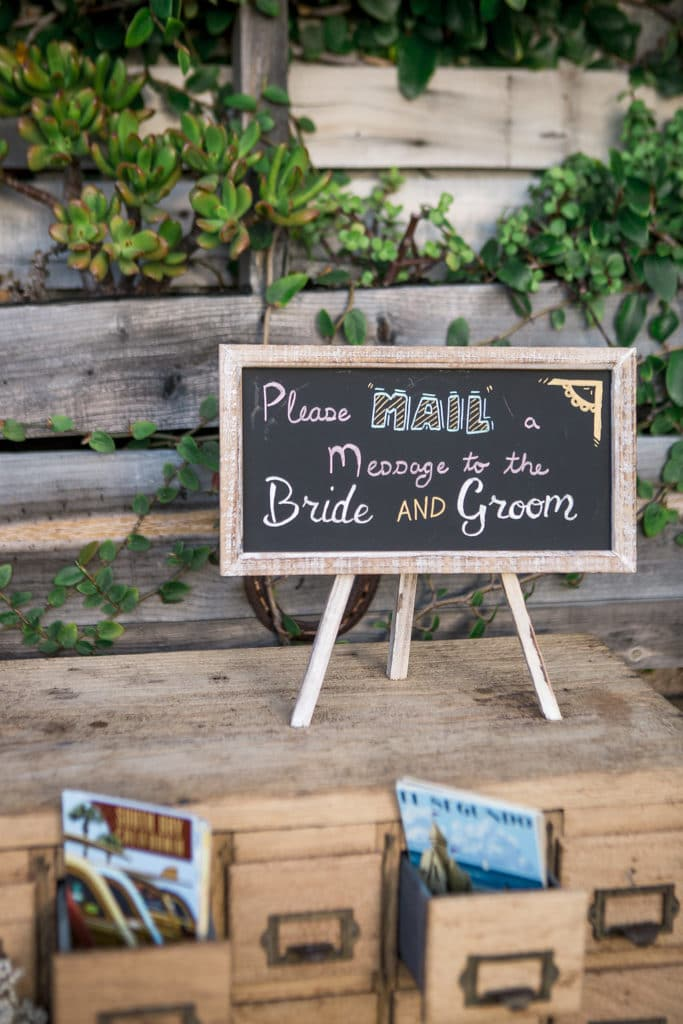 please leave a message for the bride and groom sign