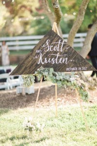 Bride and Groom Wood and white wedding Welcome Sign