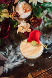 Winter coffee cocktail for holiday party or winter wedding