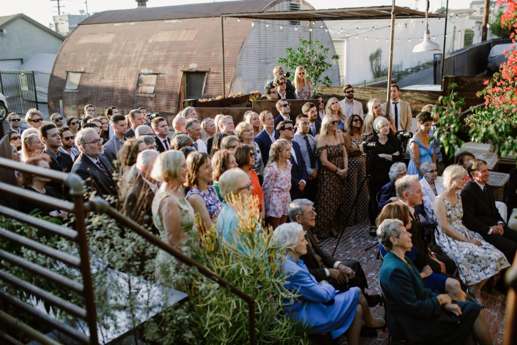 Outdoor wedding ceremony at Smoky Hollow Studios