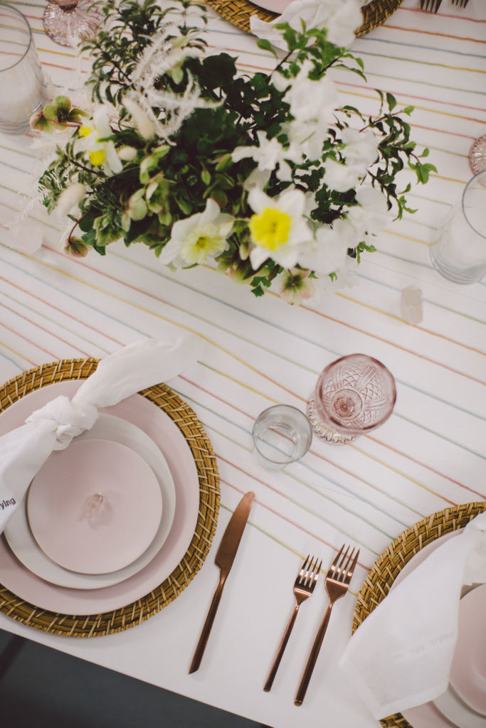 Creative table design for a girls trip