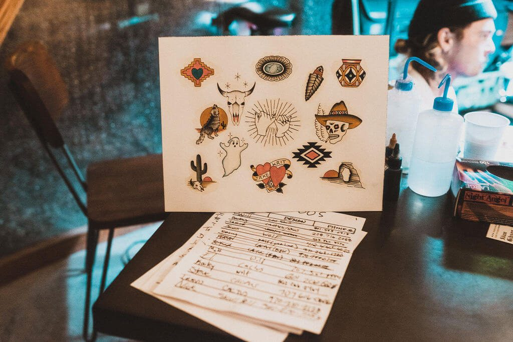 Wedding tattoos designed by the bride and groom