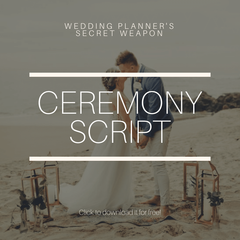 Free ceremony script for wedding planners