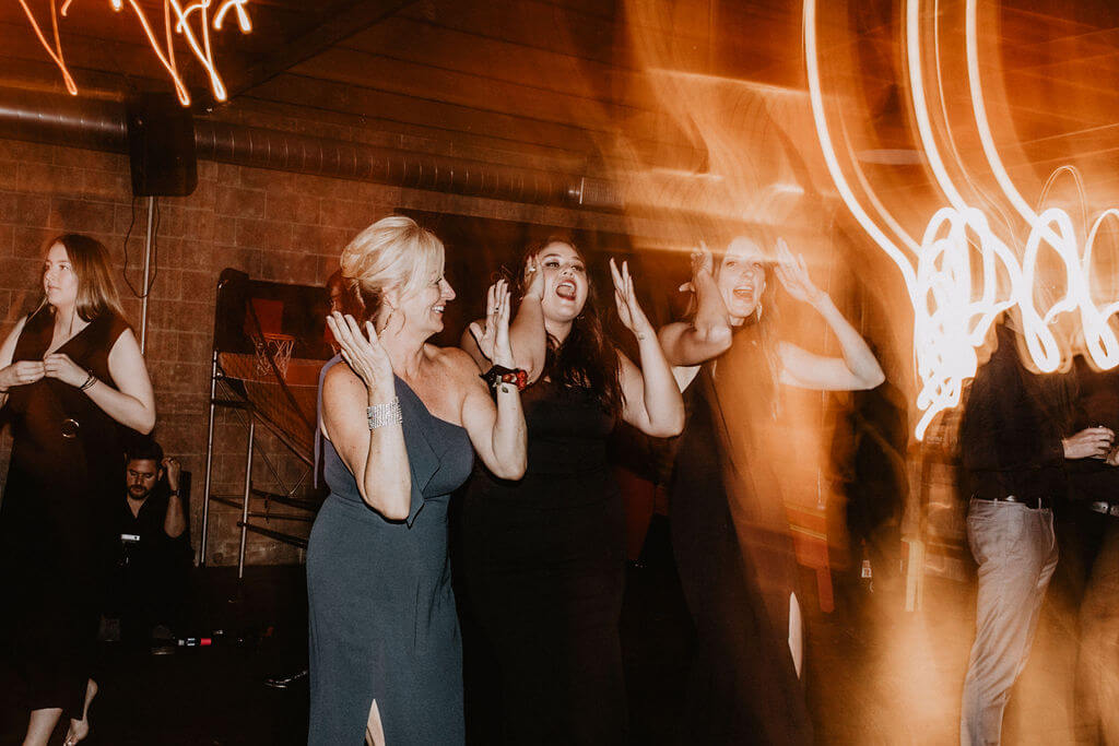 Epic guests dance moves at wedding