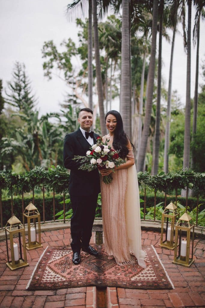 A romantic elopement in Beverly Hills at the Robinson Gardens
