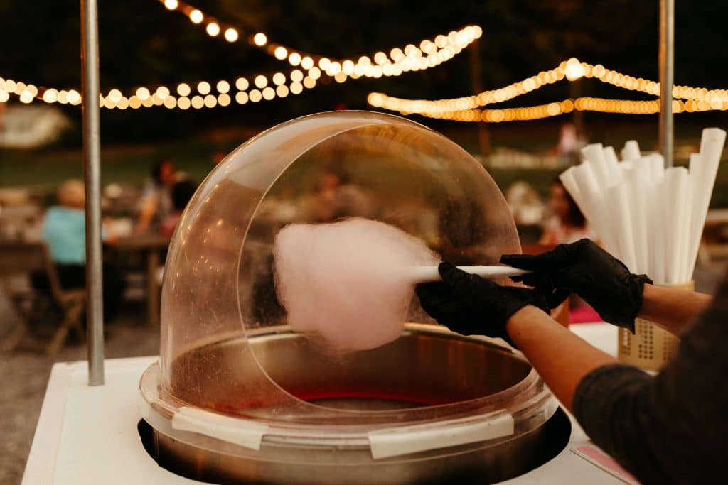 Cotton candy in Nashville for fun wedding late night snacks