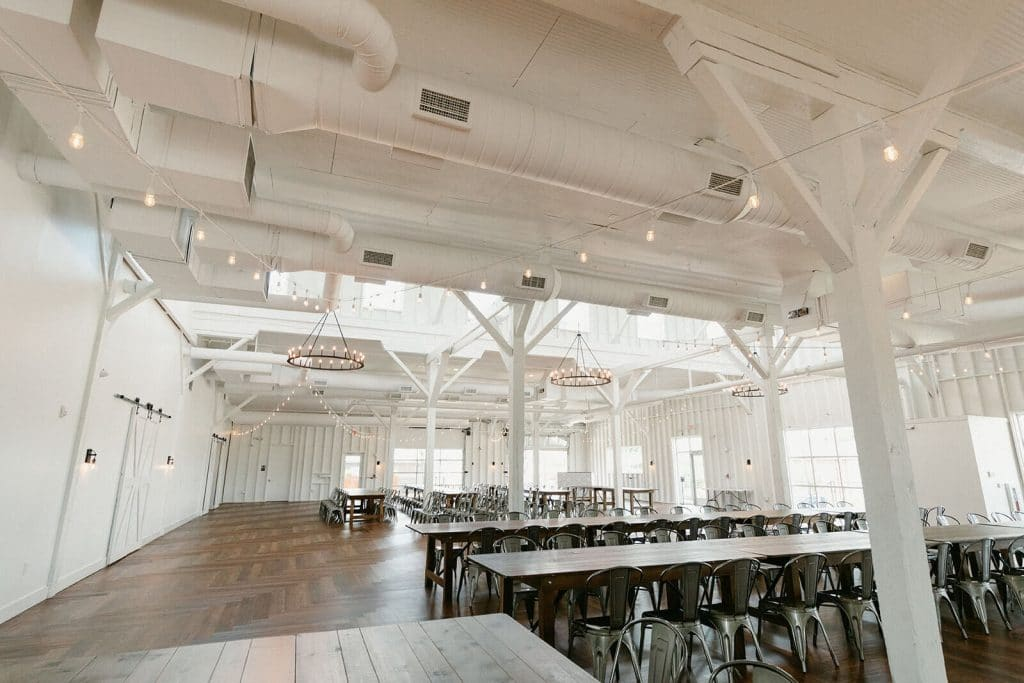 Wedding Reception set up at 14Tenn wedding venue in Nashville