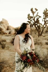 Bride at Joshua Tree National Park