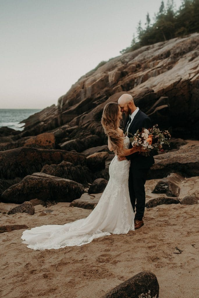 A beautiful Maine elopement in Acadia National Park