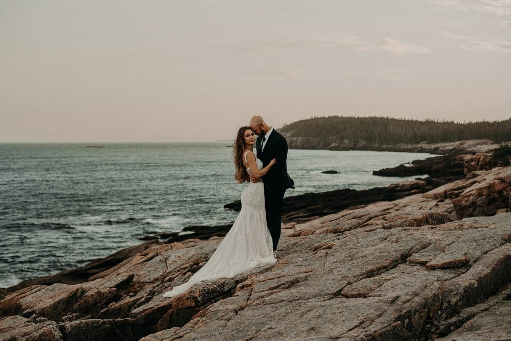A romantic intimate wedding in midcoast Maine
