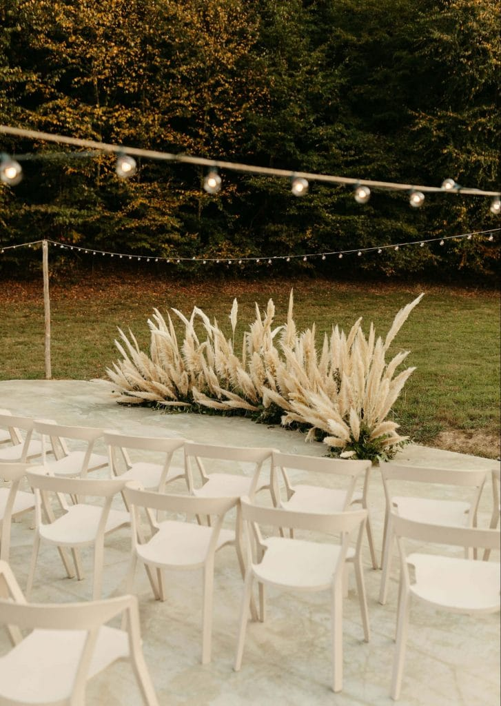 Pampas grass ceremony circle