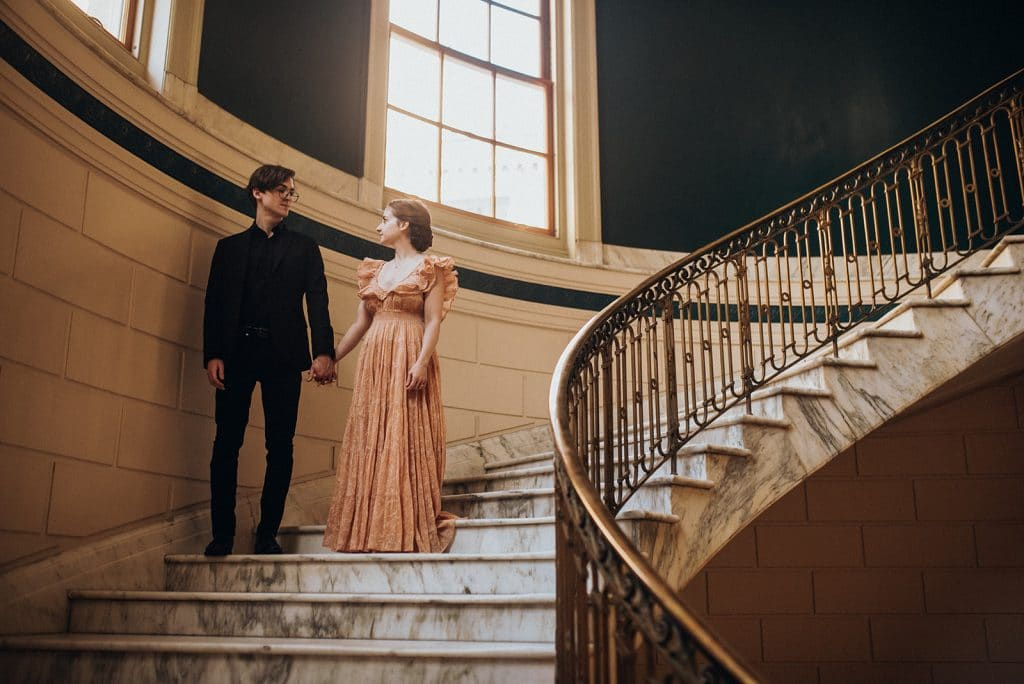 Unique vintage inspired elopement in Portland, Maine