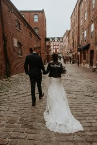 An edgy and urban wedding in Portland Maine.
