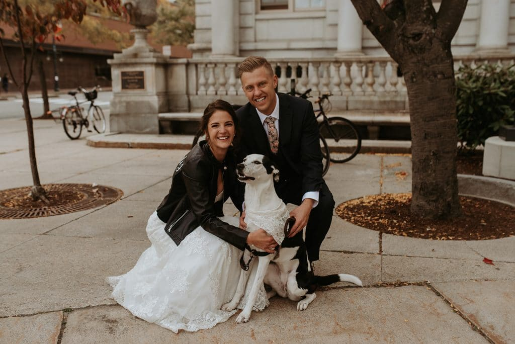 A dog friendly wedding in Maine